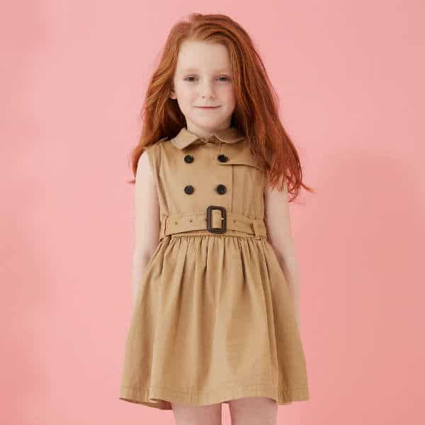 BURBERRY Beige Cotton Twill Trench Dress