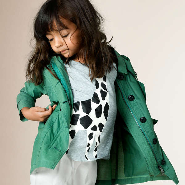 Burberry Girls Giraffe Print Cotton Shirt