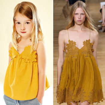 CHLOE-Girls-Mini-Me-Gold-Cotton-Linen-Top