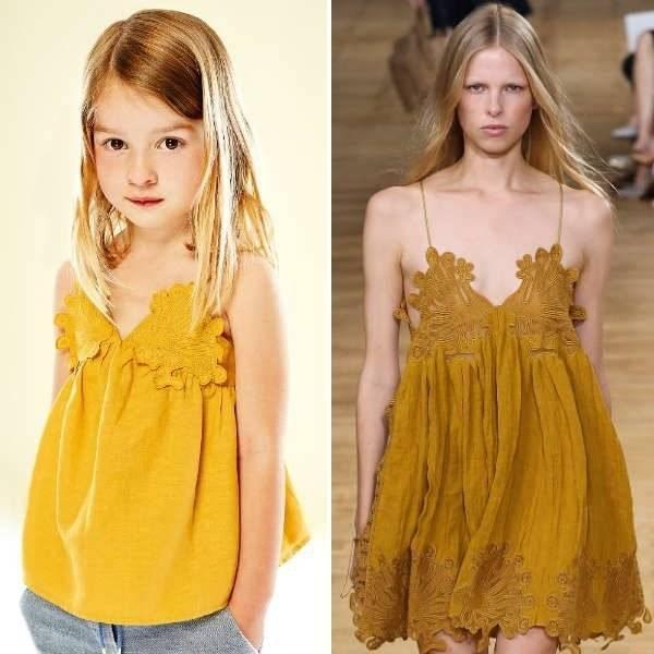 CHLOE-Girls-Mini-Me-Gold-Cotton-Linen-Top