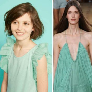CHLOE-Girls-Mini-Me-Green-Jersey-Dress-with-Silk-Crepe-Ruffles