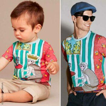 DOLCE & GABBANA Baby Boys Monkey Print T-Shirt