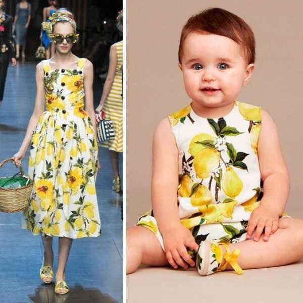 DOLCE & GABBANA Baby Girls Mini Me Lemon Print Dress