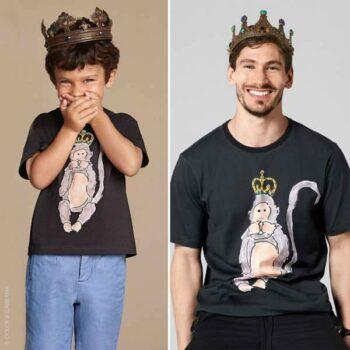 DOLCE & GABBANA Boys Black 'Speak No Evil' Monkey T-Shirt