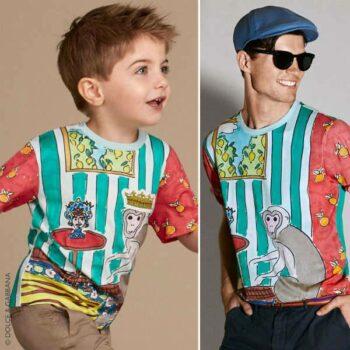 DOLCE & GABBANA Boys Monkey Print T-Shirt