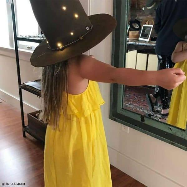 Harper Beckham Chloe Girls Yellow Layered Maxi Sundress
