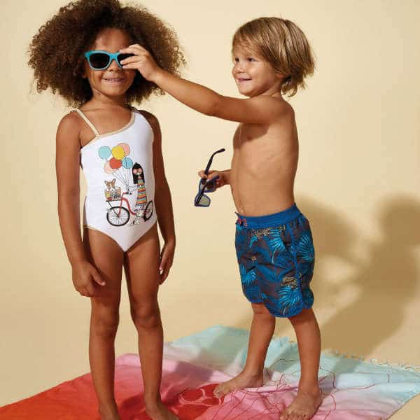 LITTLE MARC JACOBS Boys Blue Jungle Print Swim Shorts