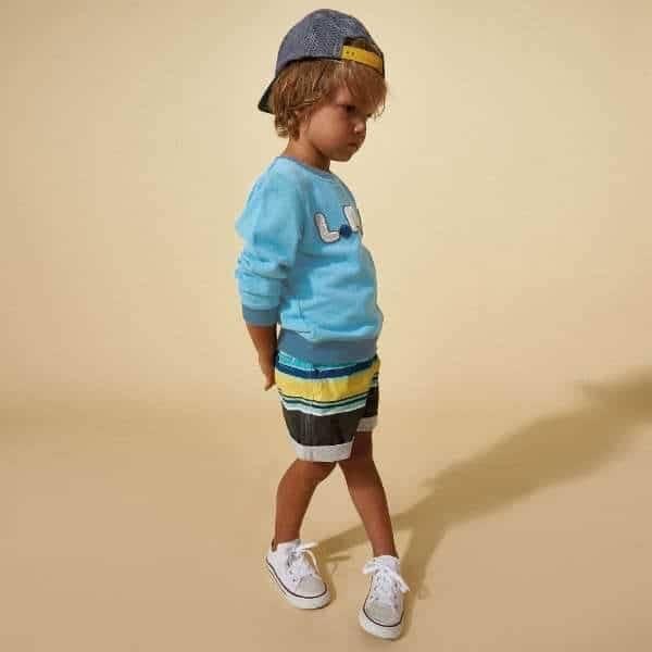 LITTLE MARC JACOBS Boys Light Blue 'LMJ' Sweatshirt