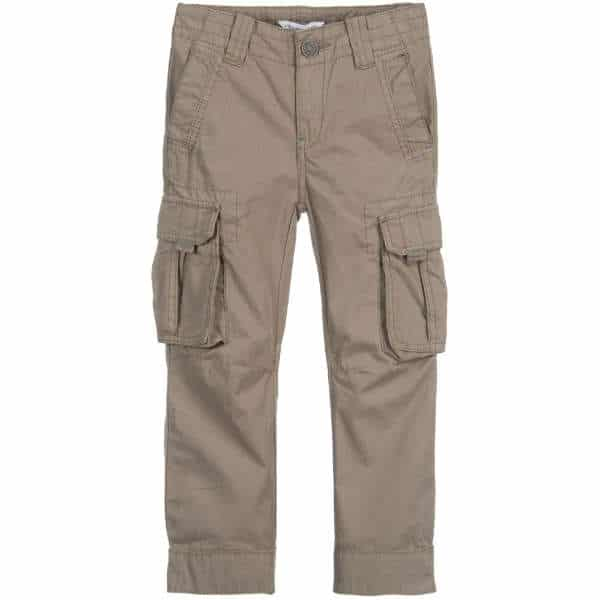 Boys Olive Green Cargo Pants
