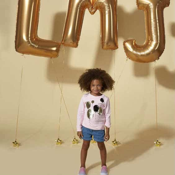 little marc jacobs girls pink gold baloon sweatshirt