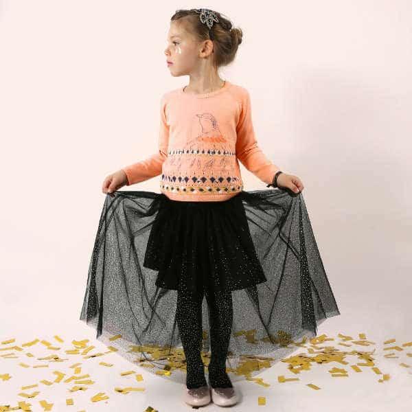BILLIEBLUSH Girls Pink Knitted Bird Sweater