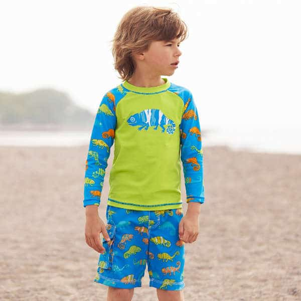 HATLEY Boys Green Blue Chameleon Top