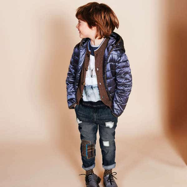 HITCH-HIKER Boys Navy Blue Denim Jeans with Patches
