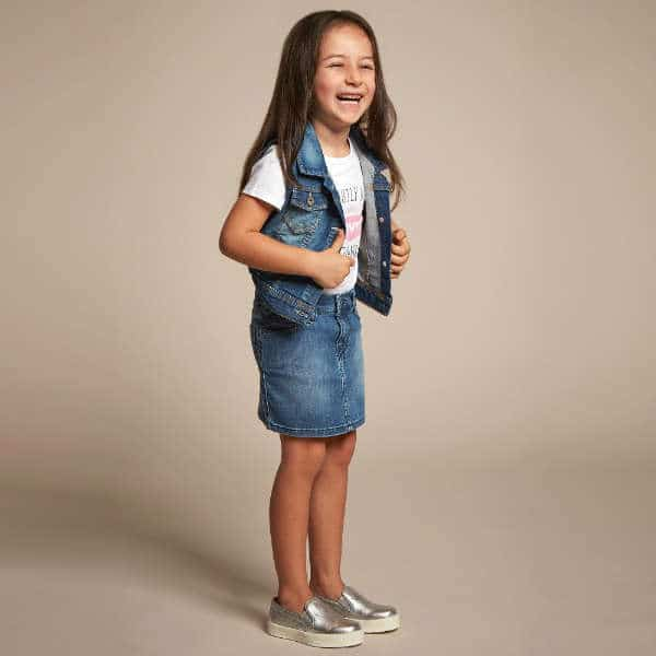 LEVI'S Girls Blue Sleeveless Denim Jacket