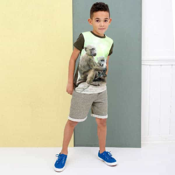 WILD Boys Green Monkey T-Shirt