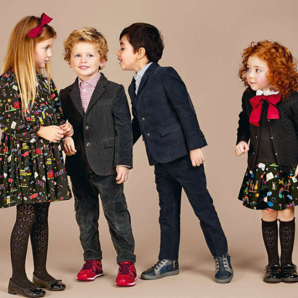 DOLCE & GABBANA Black 'Back To School' Milano Cotton Jersey Dress