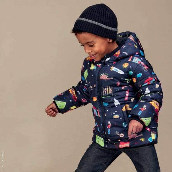 Dolce Gabbana Boys Blue Back to School Down Padded Jacket