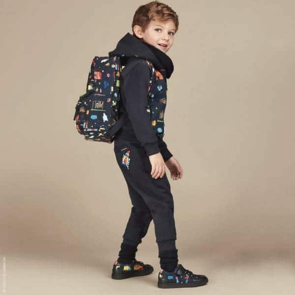 Dolce Gabbana Boys Blue Illustrated Back to School Outfit