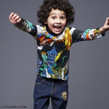 Little Marc Jacobs Boys Black Alien Invasion T-shirt & Patch Jeans