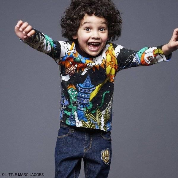 Little Marc Jacobs Boys Black Alien Invasion T-shirt & Patch Jeans