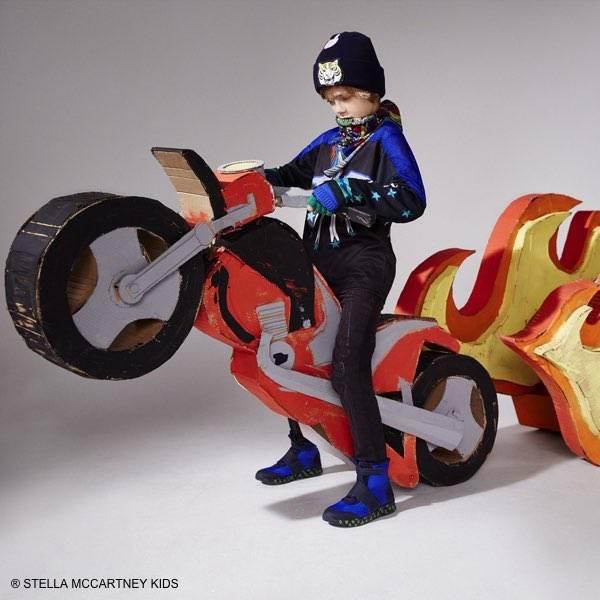 Stella McCartney Kids Boys Black Motocross Outfit