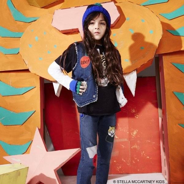 STELLA MCCARTNEY KIDS Girls Blue Denim Royce Vest & Nina Patch Jeans