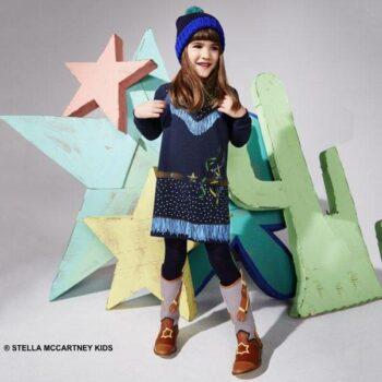de9f5182c04 STELLA MCCARTNEY KIDS Girls Blue Organic Cotton Cowgirl Dress & Boots