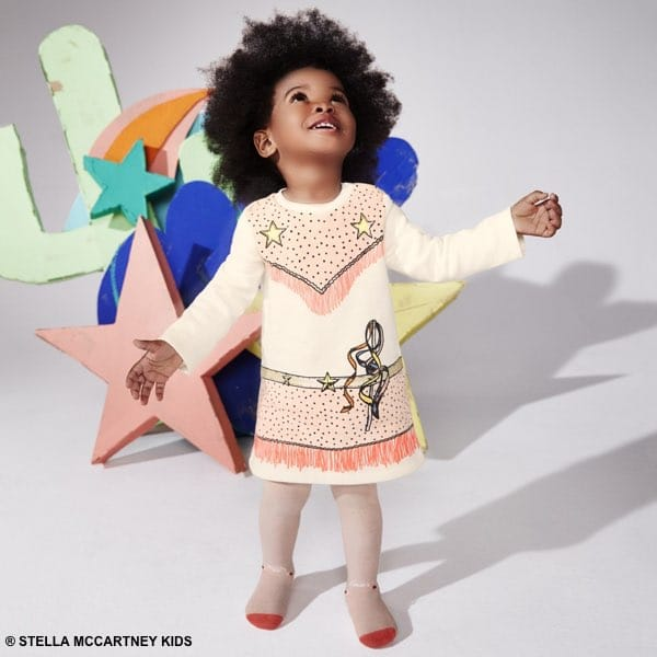 Stella McCartney Kids Girls Pink Cowgirl Dress & Gold Boots