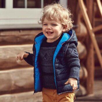 BOSS Baby Boys Blue Down Padded Vest