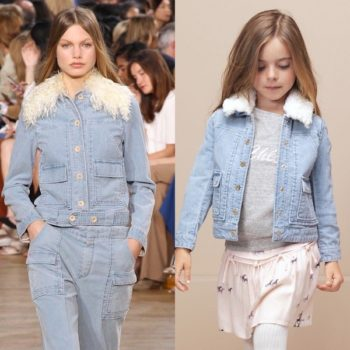 CHLOE-Girls-Mini-Me-Blue-Corduroy-Jacket-Pink-Pony-Skirt