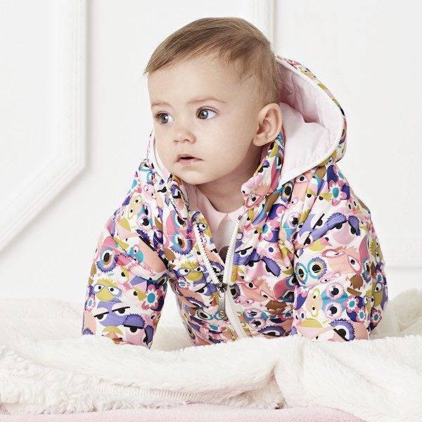 FENDI Baby Girls Monster Puffer Hooded Jacket