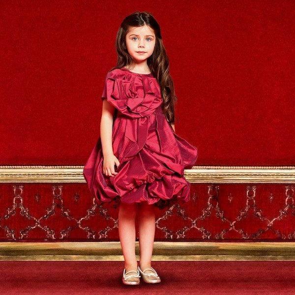 I PINCO PALLINO Red Ruched Taffeta Party Dress