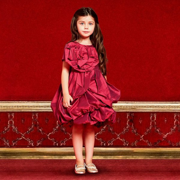 I PINCO PALLINO Red Ruched Taffeta Party Dress