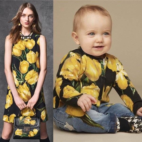 DOLCE & GABBANA Baby Girls Mini Me Yellow Wool Tulip Cardigan