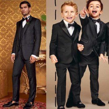 DOLCE & GABBANA Boys Mini Me Black Wool & Silk Tuxedo