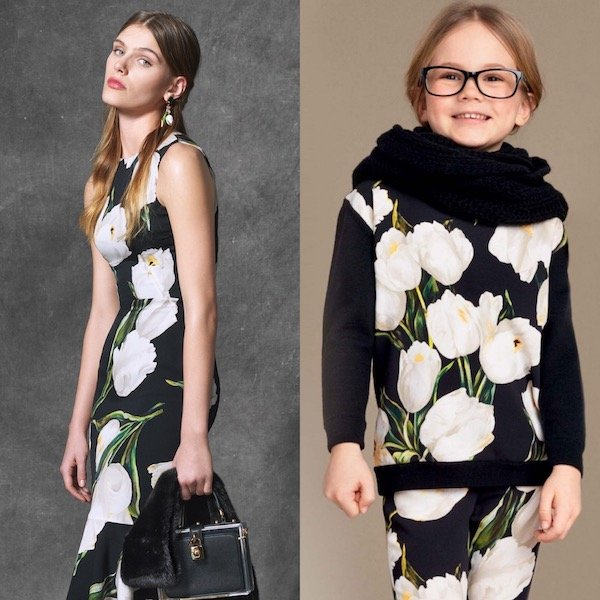 DOLCE & GABBANA Girls Black Wool Knitted Tulip Sweater & Pants