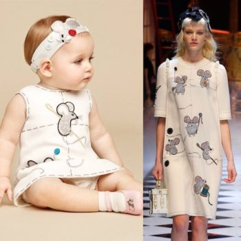DOLCE & GABBANA Baby Girls Ivory 'Fairytale' Dress & Knickers