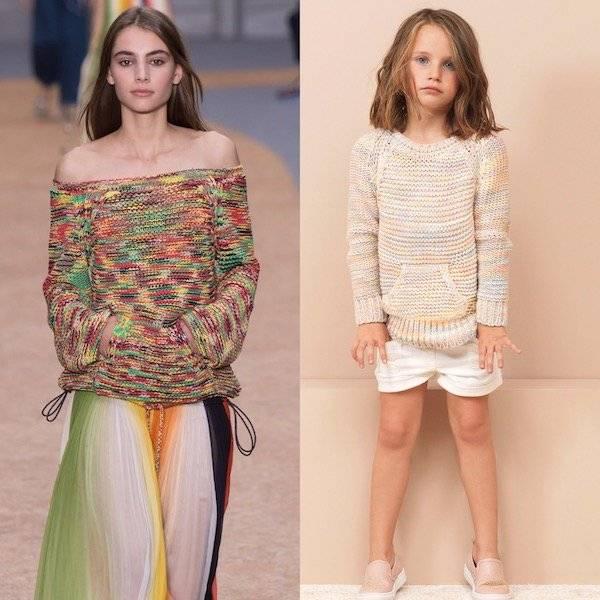 CHLOÉ Girls Mini Me Chunky Cotton Knit Sweater