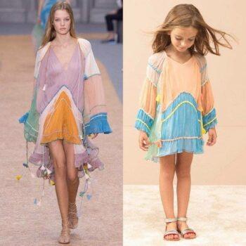 CHLOE-Girls-Mini-Me-Pink-Silk-Crepe-Dress