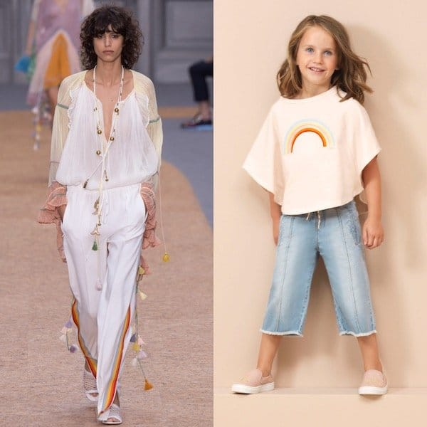 CHLOE-Girls-Mini-Me-White-Rainbow-T-Shirt