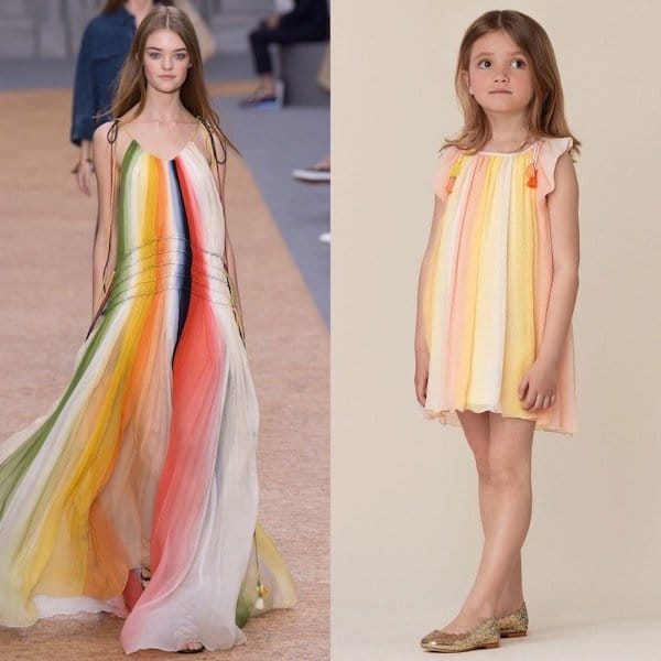 CHLOE-Girls-Pink-Yellow-Mini-Me-Striped-Silk-Dress