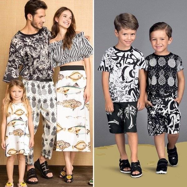 DOLCE & GABBANA Boys Mini Me Black & White Pineapple T-Shirt & Jazz Shorts