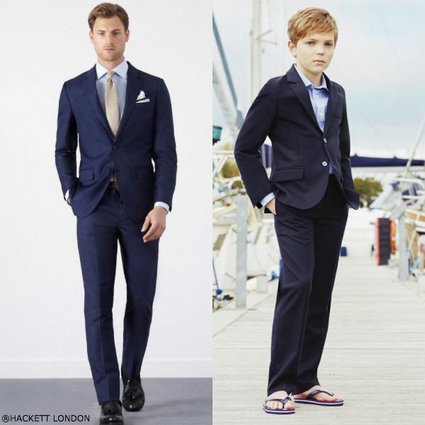 Hackett London Boys Blue Mini Me Suit