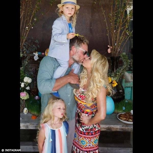 Jessica Simpson Daughter Maxwell CHLOÉ Girls Mini Me Blue Striped Silk Dress Easter 2017