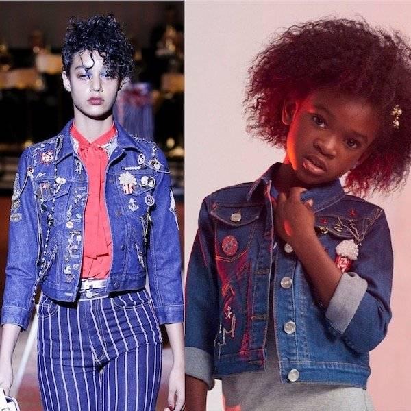 LITTLE MARC JACOBS Girls Blue Mini Me Denim Popcorn Jacket