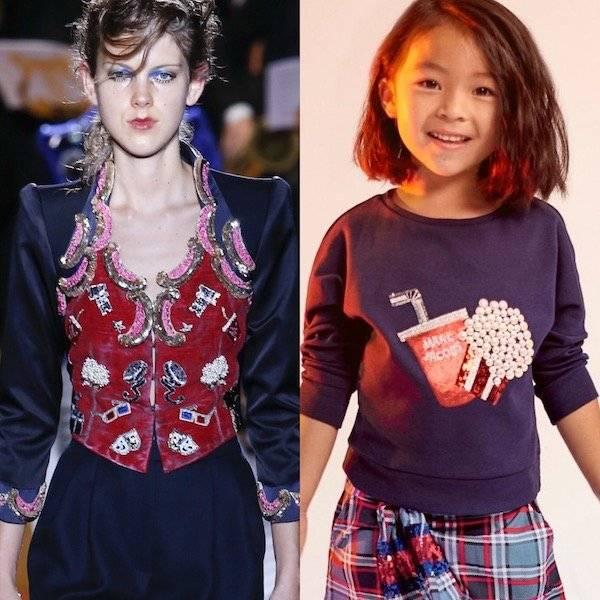 LITTLE MARC JACOBS Girls Mini Me Movie Popcorn Sweatshirt
