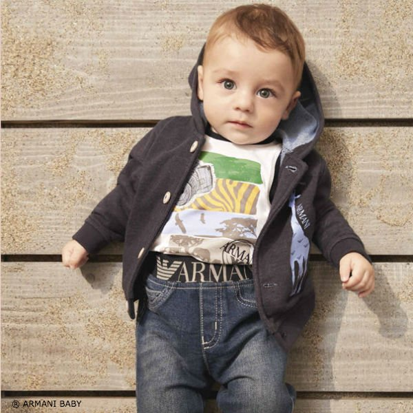 Armani Baby Safari Shirt and Logo Jeans