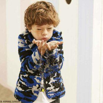 Armani Junior Camouflage Jacket Look