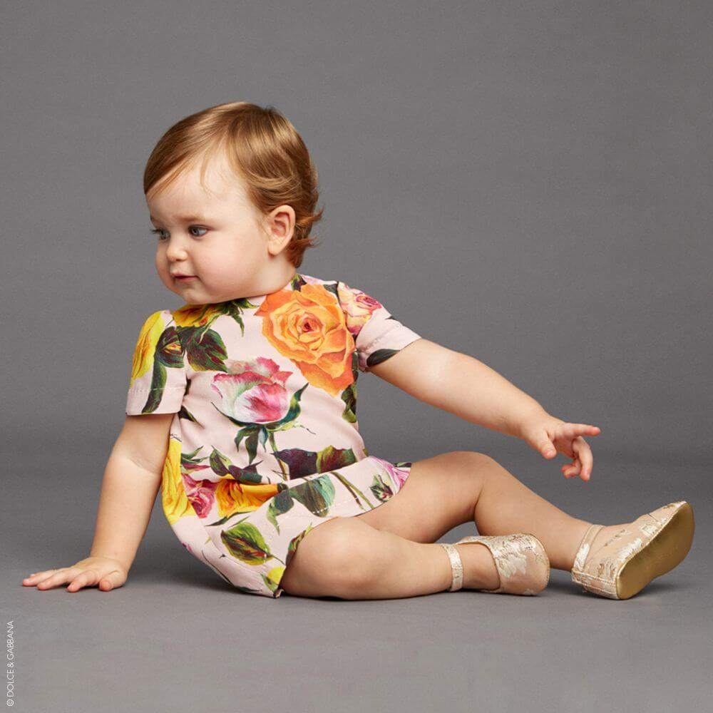 DOLCE & GABBANA Baby Girls Rose Print Dress