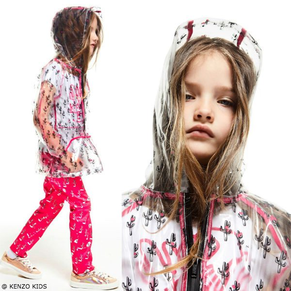 Kenzo Girls Dancing Cactus Raincoat and Pants